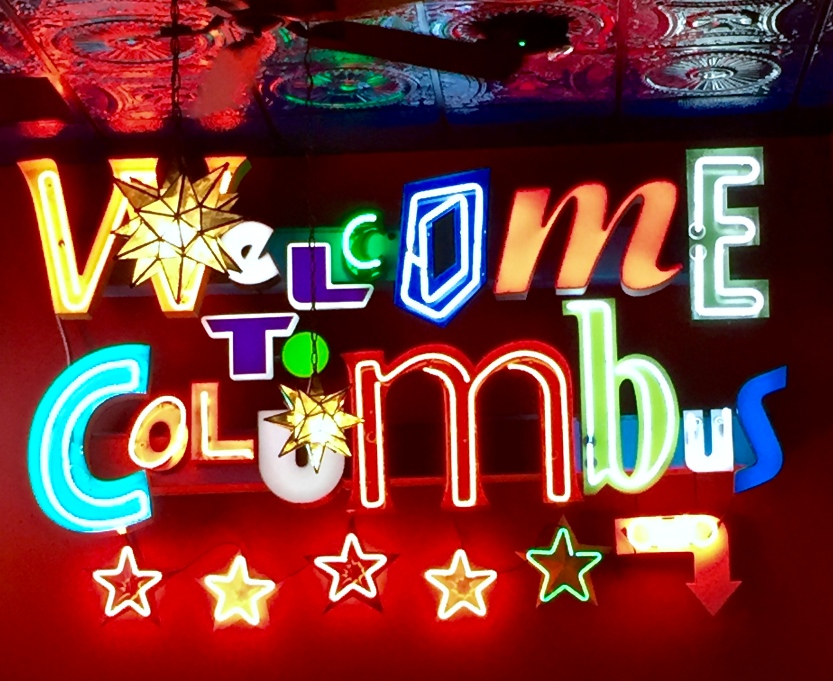 OH Columbus 2016-2-25 Welcome to Columbus sign at Melt.jpg